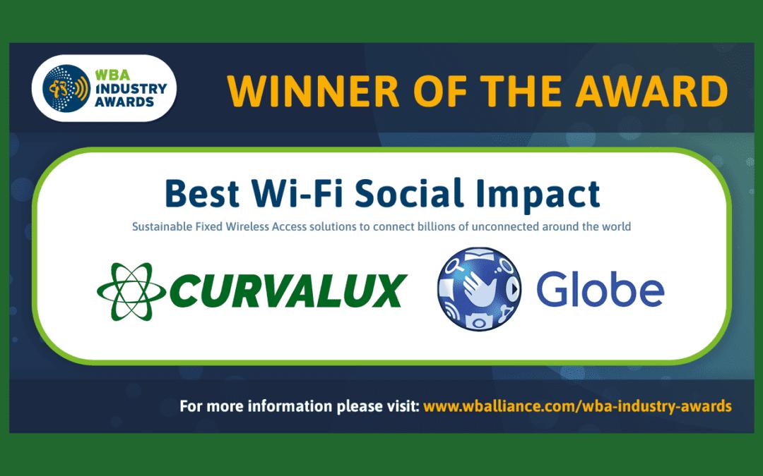 Globe Telecom and Curvalux win the Wireless Broadband Alliance Award for Social Impact